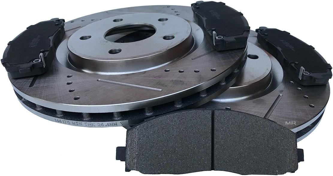 Przednie klocki + WIERCONE tarcze hamulcowe 330mm Fiat Freemont 2012 146170RL+SCD1589