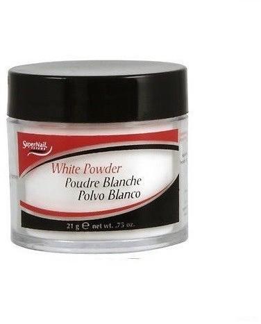 SuperNail Puder akrylowy White Powder -biały-21g export-3483-0