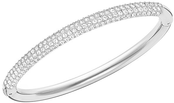 Swarovski Stone Mini Bangle White Rhodium-plated