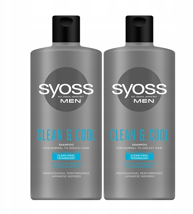 Syoss Men Clean&Cool Szampon do włosów 2 x 440