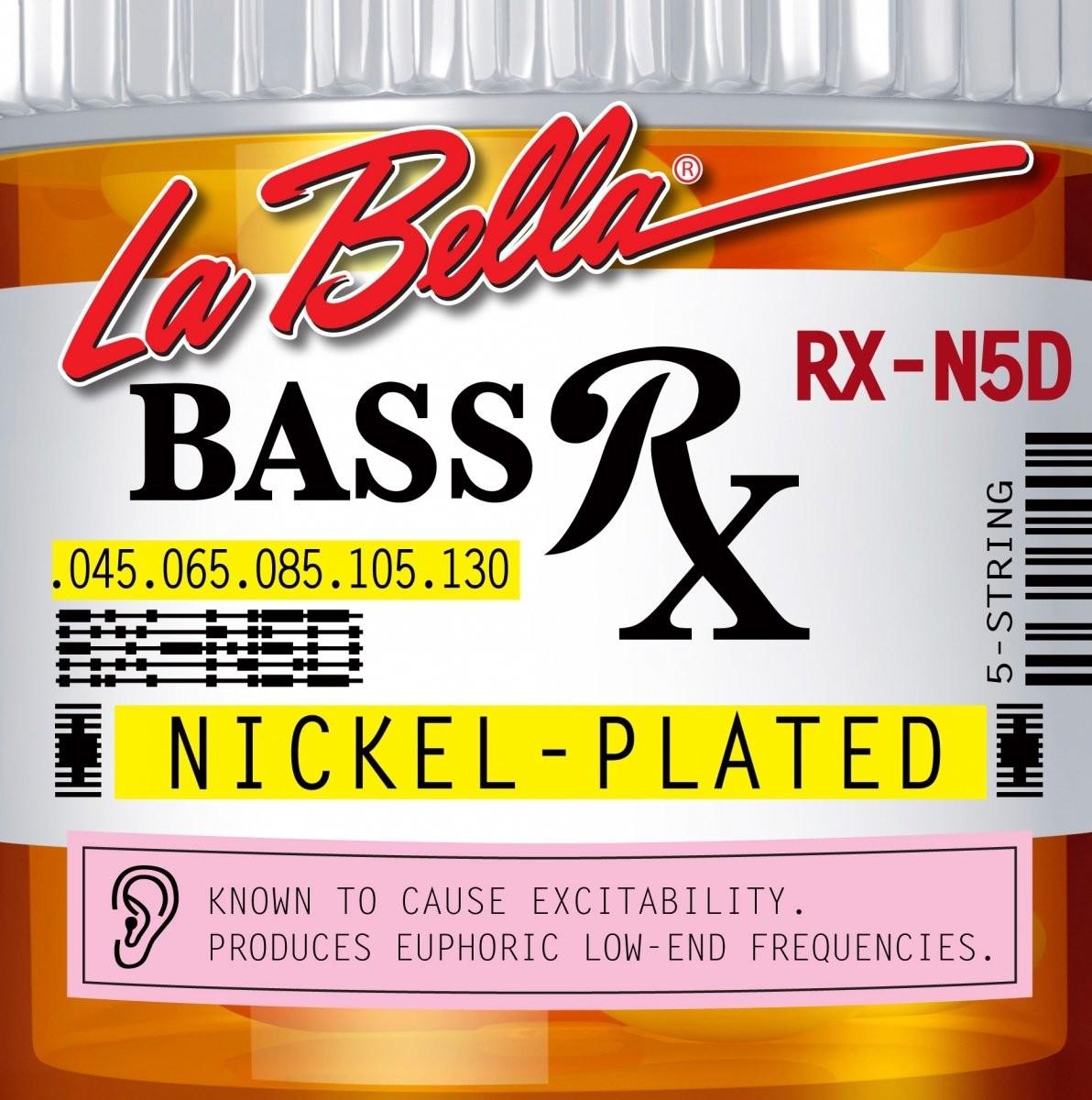LaBella RX-N5D 45-130 niklowe struny do basu 5 strunowego