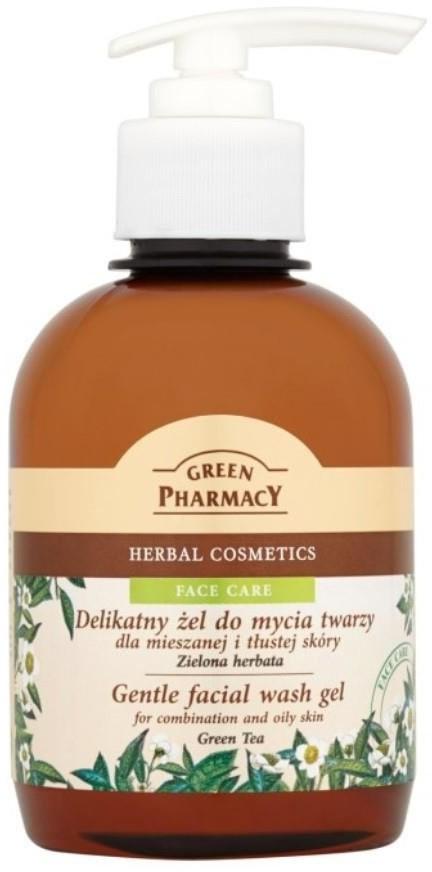 GREEN PHARMACY Gentle facial Wash Gel żel do mycia twarzy dla mieszanej i tłustej skóry Zielona Herbata 270ml