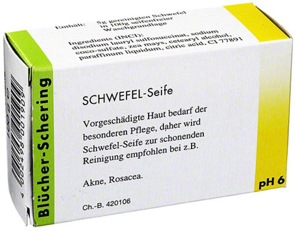 Bl?cher-Schering GmbH & Co. KG Bluecher Schering mydło siarkowe 100 g