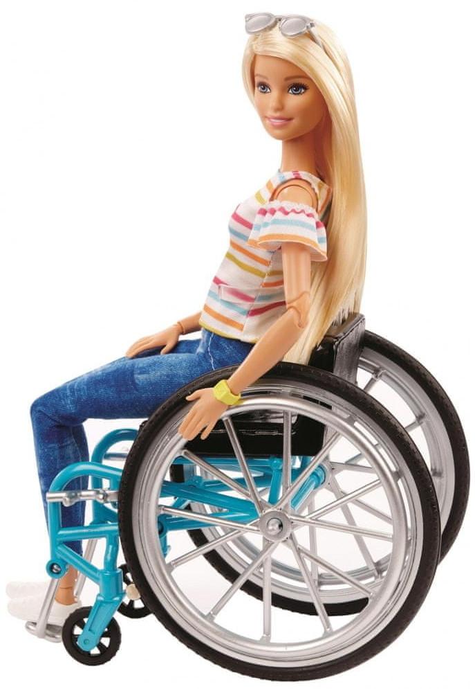 Mattel Barbie na wózku inwalidzkim GGL22