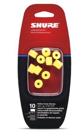 Shure eaylf110elementów dopasowujących do uszu do SE słuchawki douszne z pianki, żółty EAYLF1-10
