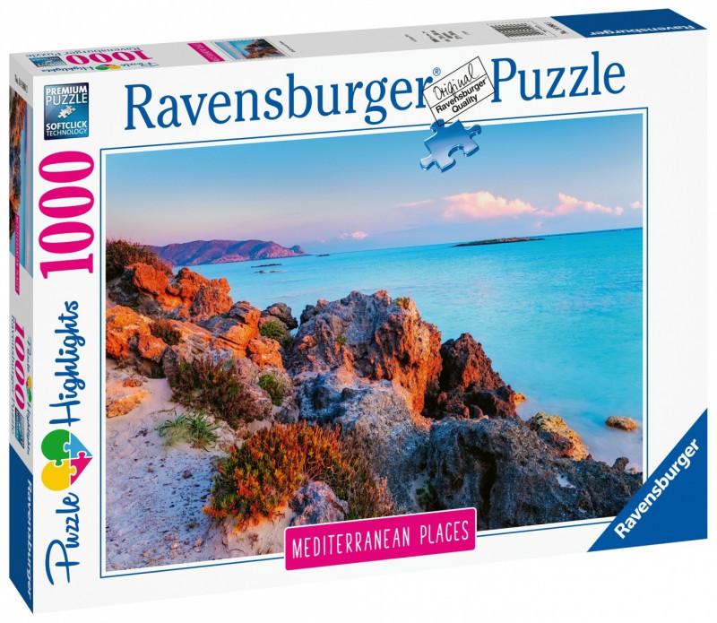 Ravensburger Puzzle 1000 elementów Śródziemnomorska Grecja 4005556149803