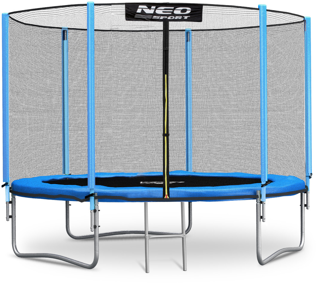 Neo-sport Trampolina ogrodowa 6ft/183cm z siatką zewnętrzną i drabinką