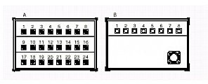 PROEL SNBOX24 Stage Box z 24 gniazdami XLR, 8 wtykami XLR, 1 wtyk męski CMIL150MP SNBOX24