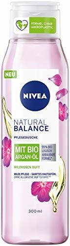 Nivea Żel pod prysznic Natural Balance dzika róża zapach Bio olejek arganowy, 300 ml