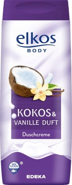 Elkos Krem pod prysznic Kokos & Wanilia 300 ml