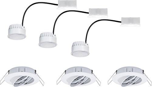 Paulmann LED lampa do zabudowy 3er Set 20.4W ciepły biały Coin 93978Biały (matowa) 93978