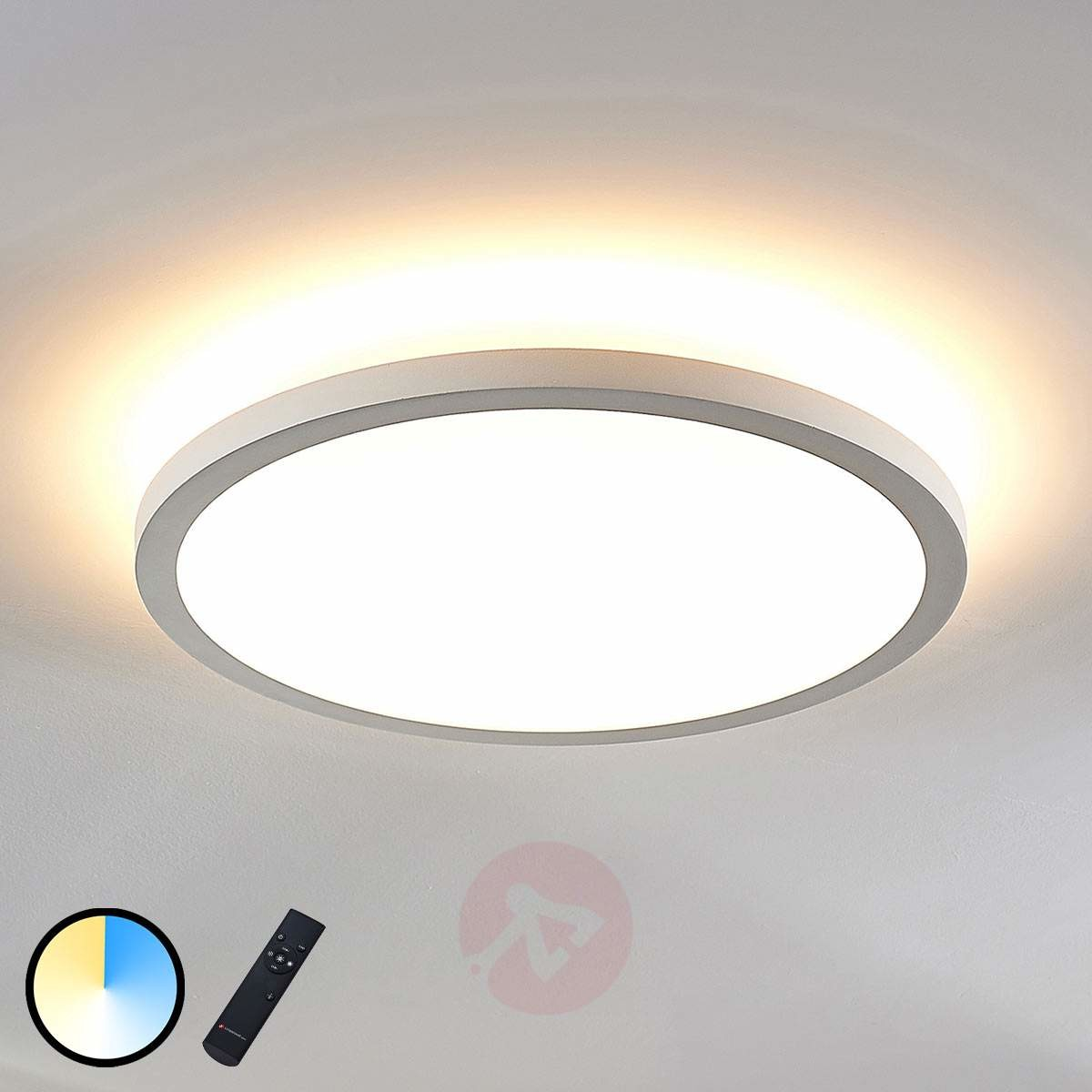 Lampenwelt com Panel LED Brenda CCT z pilotem 40 cm