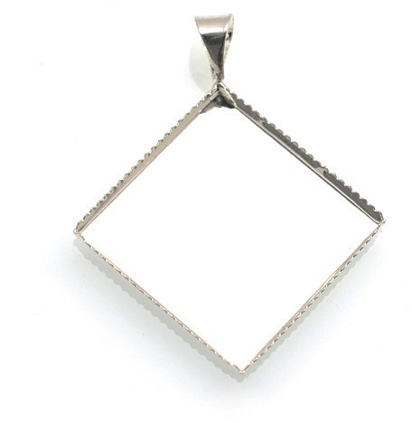 bmk08 Baza kwadrat zawieszka do kaboszon 20x20mm j.srebrny