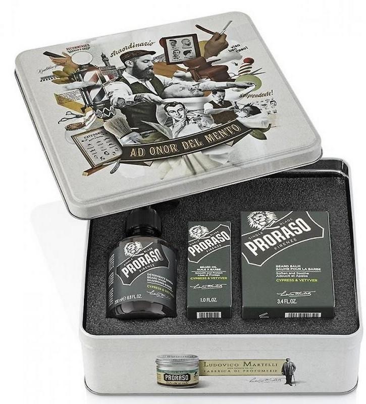 Proraso Zestaw Cypress&Vetyver (szampon, balsam, olejek) 8004395006922