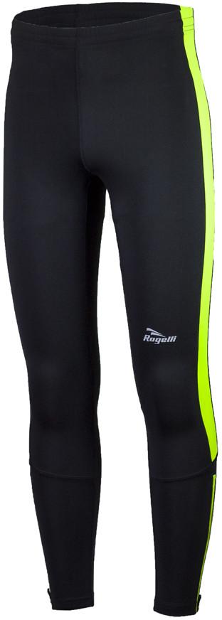 Rogelli RUN 830.737 VISION 2.0 męskie spodnie do biegania czarno-fluorowe
