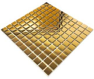 Szklane Mozaiki.pl Mozaika Szklana Gold Metalic 30x30