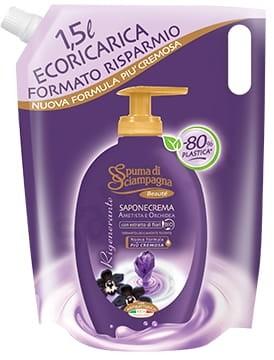 Spuma di Sciampagna Spuma di Sciampagna Orchidea i ametyst - Regenerujące mydło w płynie uzupełnienie (1500 ml) 8007750009552