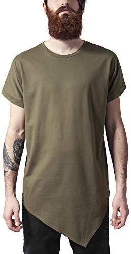 Urban Classics męski T-shirt asyme Tric Long Tee, kolor: zielony (oliwka 176) , rozmiar: xl B01CVGLO28