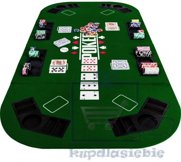 Garthen Składana mata do pokera - zielona
