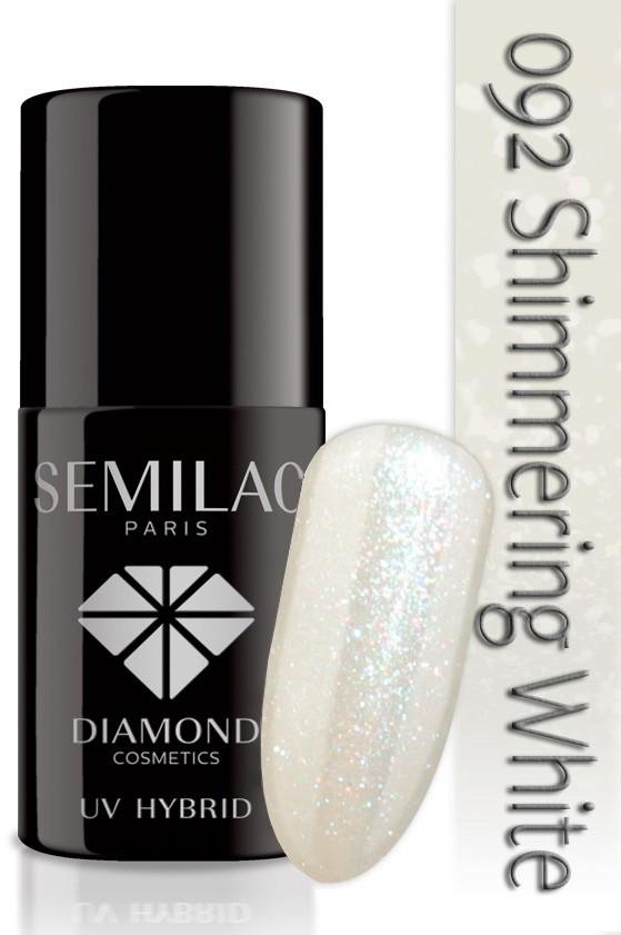 Semilac Lakier Hybrydowy Semilac 092 Shimmering White - Transparentny - 7 Ml 4810