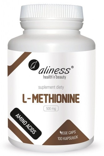 Aliness L-Methionine 500 mg, 100 kaps Vege Aliness 531F-4924A