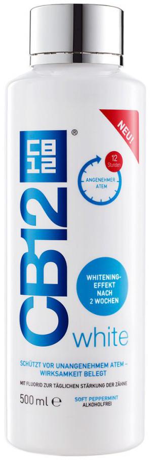MEDA PHARMA S.p.A CB12 White Soft Pepermint 250ml - wybielający płyn do płukania jamy ustnej na nieświeży oddech