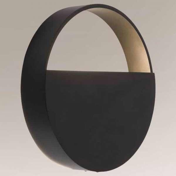 Shilo Industrialna LAMPA ścienna OMONO 7916 okrągła OPRAWA metalowy kinkiet loft czarny 7916