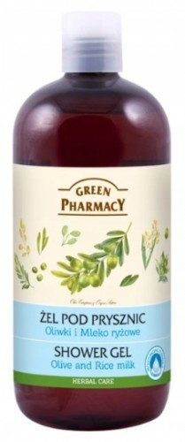 Green Pharmacy Pharm ŻEL POD PRYSZNIC OLIWKI MLEKO RYŻOWE GREEN PHARMACY 500 ml CAA9-367F5