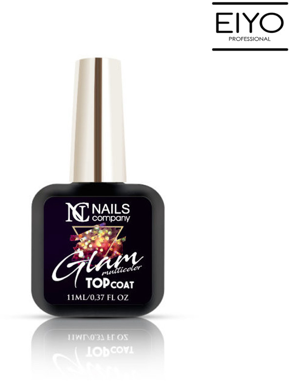 NAILS COMPANY GLAM TOP COAT MULTICOLOR Nails Company - 11 ml