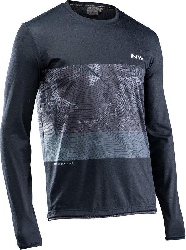 Northwave Xtrail MTB Koszulka z długim rękawem Mężczyźni, black/grey/white L 2020 Koszulki MTB i Downhill 89201303-14-L