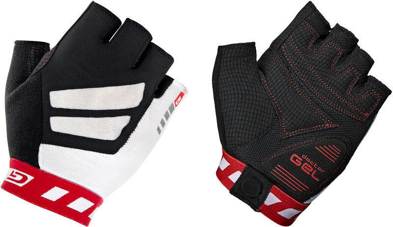 Gripgrab GripGrab WorldCup Krótkie wyściełane rękawiczki rowerowe, red/white M 2020 Rękawiczki szosowe 100655015