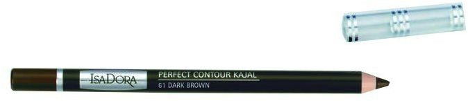 IsaDora Perfect Contour Kajal konturówka do powiek 61 Dark Brown 1,2g - 61 Dark Brown
