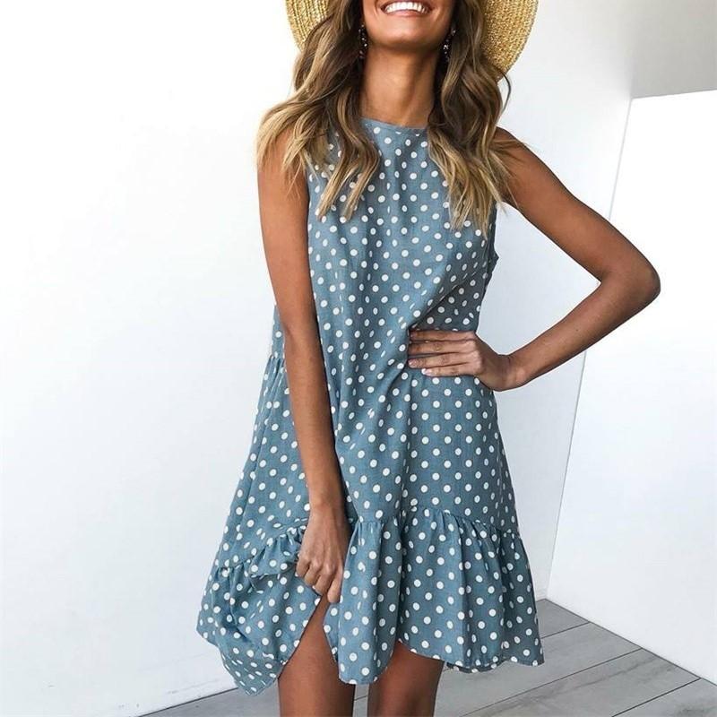 Rozkloszowana spódnica sukienka wzburzyć kobiety 2019 wiosna lato ulica Sexy Casual Slim cienka