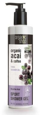 Organic Shop Tonizujący żel pod prysznic Brazylijskie jagody acai - Organic Coffee and Acai Sport Shower Gel Tonizujący żel pod prysznic Brazylijskie jagody acai - Organic Coffee and Acai Sport Shower Gel
