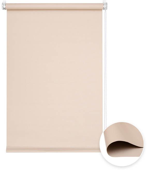 Victoria-M Roleta materiałowa bezinwazyjna, Przyciemniająca, Gotowa, BASIC, Beżowa, 50x150cm
