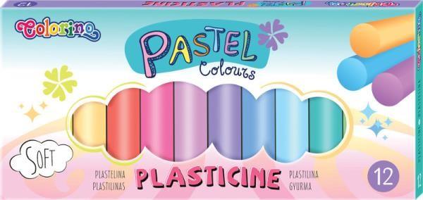 PATIO Plastelina 12 kolorów Pastel Colorino 87805
