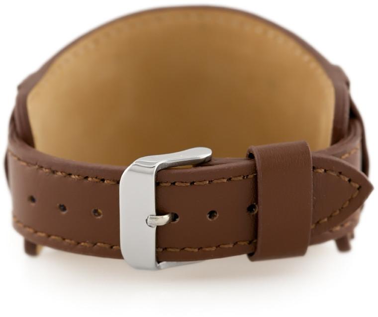 Pacific Pasek skórzany do zegarka W85 - podkładka - brązowy - 18mm hurtownia_tayma-9942