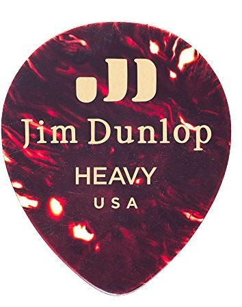 Dunlop Jim 485P05HV Genuine Celluloid Tear Drop, Shell, 12/Player's Pack 485P-05HV