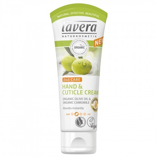 Lavera krem do rąk i paznokci 2in1 pielęgnacji Bio oliwy z oliwek i bio KAMILLE krem do rąk szybko się wchłania Vegan Bio Natural i innowacyjna ręcznie Care kosmetyki 2er Pack (2 X 75ml natu 107085