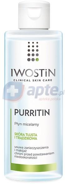Iwostin wrażliwa Purritin płyn micelarny 215ml