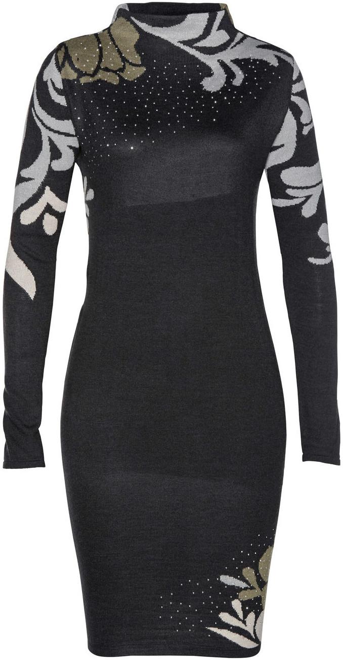 Bonprix Sukienka dzianinowa czarny