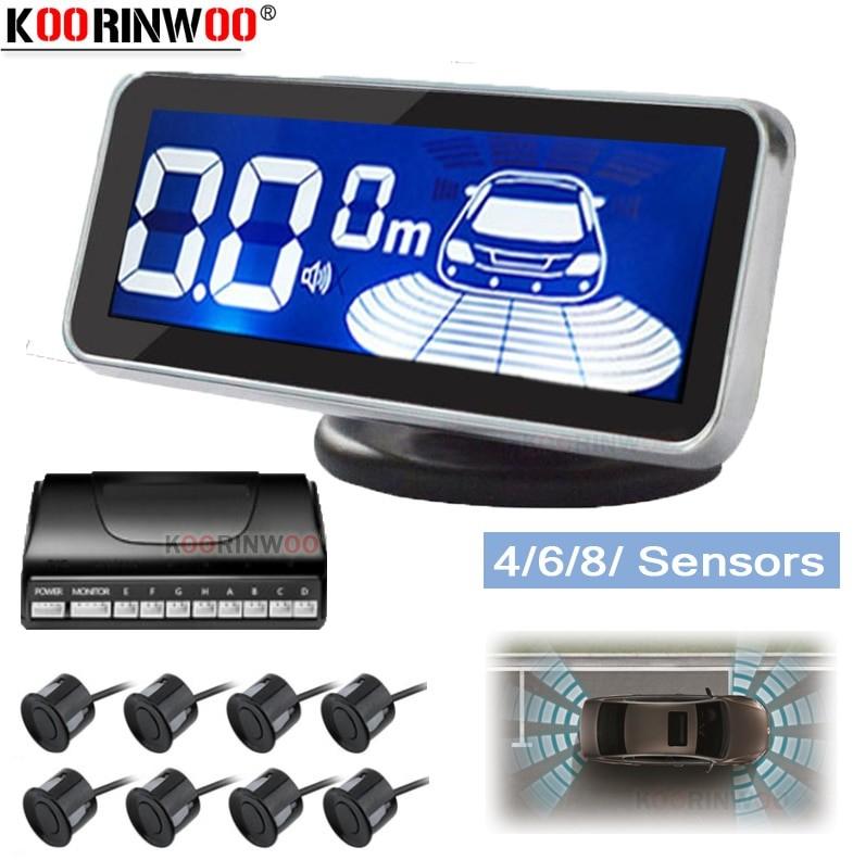 null Koorinwoo Monitor LED elektromagnetyczny czujnik parkowania 8 samochodów Parktronic przedni Parking