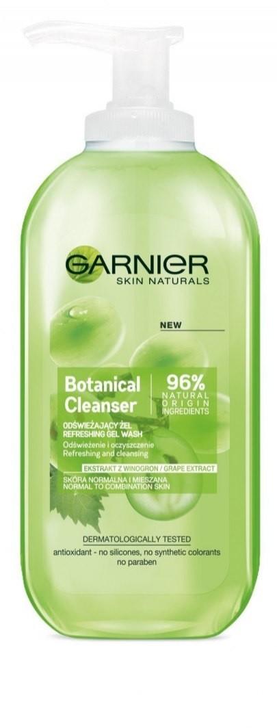 Garnier Skin Naturals Botanical Grape Extract Żel odświeżający do mycia twarzy 200ml
