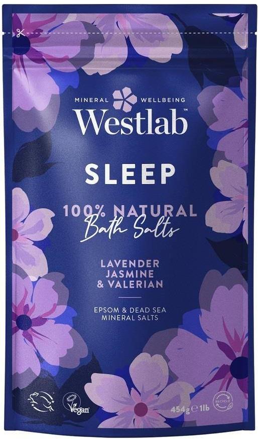 Westlab Westlab Sleep Lawenda & Jaśmin & Waleriana 454g uspokajająca sól do kąpieli