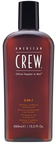 American Crew Classic 3w1 Żel pod Prysznic Szampon Odżywka do Włosów 450 ml