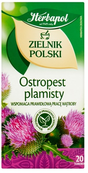 Herbapol Herbapol Zielnik Polski Ostropest plamisty Herbatka ziołowa 40 g (20 x 2 g)