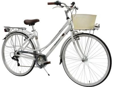 Indiana Rower miejski z koszykiem Perla 28 7B Biały