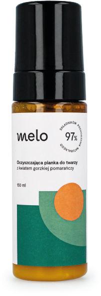 Melo natural cosmetics Melo Oczyszczająca pianka do twarzy z kwiatem gorzkiej pomarańczy 150ml