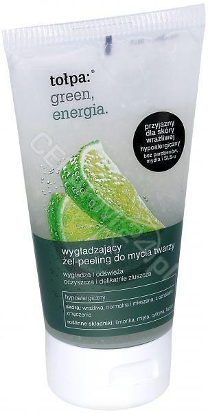 Tołpa green, energia Żel- peeling wygładzający do mycia twarzy 150ml