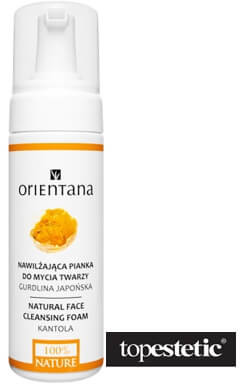 Orientana Orientana Natural Face Cleansing Foam - Kantola Nawilżająca pianka do mycia twarz - Gurdlina Japońska 150 ml